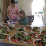 Preparing Salads