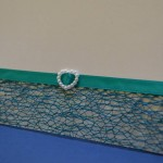 Green Net Ribbon with Heart Pearl Buckle 1